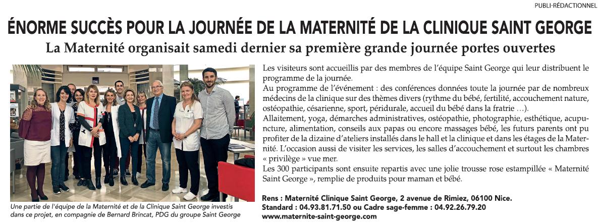 Conférence à la Maternité de la Clinique Saint-Georges à Nice